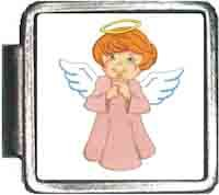 Cartoon Angel Italian Charm Bracelet Jewelry Link ()