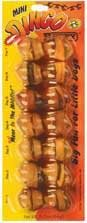 - Dingo Mini Beefy Bones Rawhide Chews -- 3 oz Each / Pack of 7