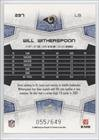 Will Witherspoon #55/649 (Football Card) 2008 Score - [Base] - Scorecard #297