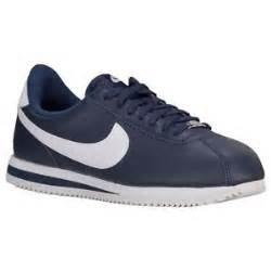 Nike MENS CORTEZ BASIC LEATHER OBSIDIAN METALLIC SILVER W...