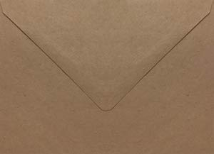 Grocer Kraft Euro Flap Booklet Envelope (6 x 9) - 50 Envelopes