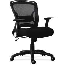 Lorell 59519 Flipper Arm Mid-Back Chair, 39.6