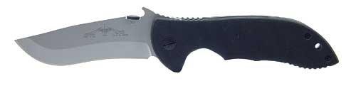 Emerson Commander Plain Folding Knife,Standard Edge Blade, Black G10 Handle COM SF