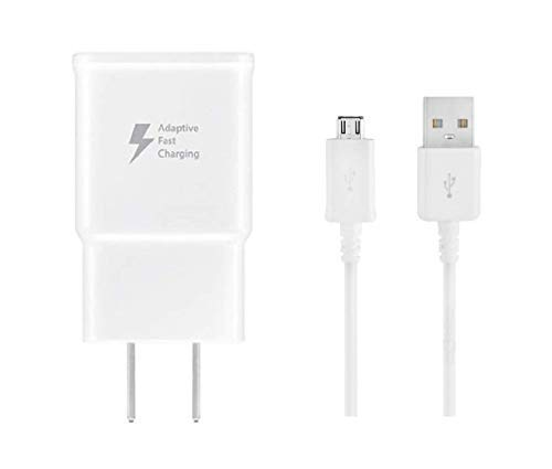 Samsung Galaxy S7 Adaptive Fast Wall Charger Set with Micro-USB Cable, Galaxy S6, Galaxy S7 Active Charger Quick Micro USB 2.0 Cable Compatible with Samsung OEM (Wall Charger + Micro USB Cable) 5 FT