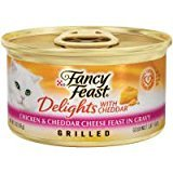 Cheap Purina Fancy Feast Delights With Cheddar GRILLED Chicken & Cheddar Cheese Feast In Gravy (12-CANS) (3 OZ EACH)