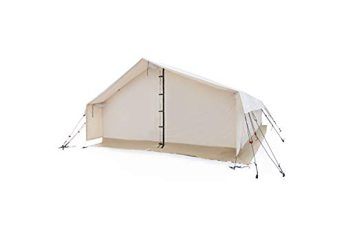 White Duck Outdoors Complete Canvas Wall Tent with Aluminum Frame and PVC Floor for Elk Hunting, Outfitter and Camping, 16'X20′ Water Repellent