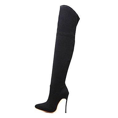 el Stiletto amp;M Cuña Tacón Tacón Mujer Heart Vestido Beige y Innovador black Tobillo Verano Otoño Ante Confort Negro Paseo Botas Marrón12 hasta Botas cms 0x4dd6wqZT