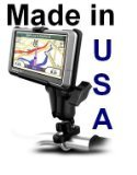 RAM Handlebar Rail Mount with Zinc Coated U-Bolt Base for the Garmin nuvi 200W, 205W, 250W, 255W, 260W, 265W, 265WT, 285WT & 465T
