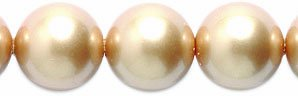 SWAROVSKI ELEMENTS Crystal Round Pearl Beads, 8-mm, Vintage Gold