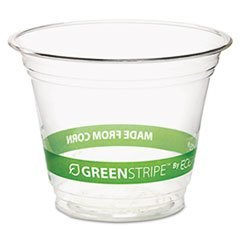 Eco Products GreenStripe Cold Drink Cups, 9oz, Clear, 50/Pack EP-CC9S-GSPK by
