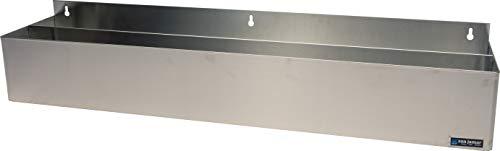 San Jamar B5542 Stainless Steel Single Rail Speed Rack Bottle Holder, 41-1/4'' Width x 6'' Height x 4-1/8'' Depth by San Jamar