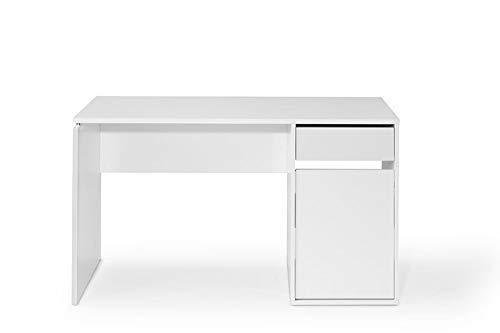 TOP KIT | Mesa de Escritorio Burgos 5210 con cajon y Puerta (Ancho 100cm) | Blanco