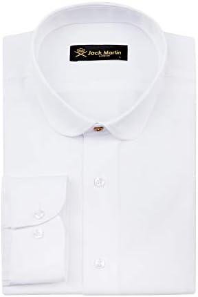 Jack Martin Peaky Blinders Style Blue Herringbone Slim Fit Shirt