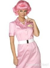 Novelties Direct Women's Grease Frenchy Wig One Size Fits All Pink