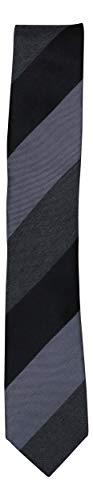 (Kenneth Cole Reaction Mens Tonal Stripe Tie (Black) )