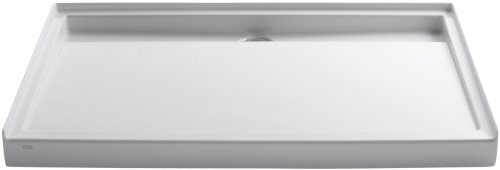 Kohler K-9996-0 Groove Acrylic Receptor 60-Inch by 42-Inch, Back Drain, White