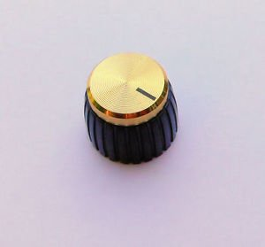 Jellyfish Audio set de dos perillas doradas para amplificadores Marshall, para acanalados/controles de split JellyfishAudio-177