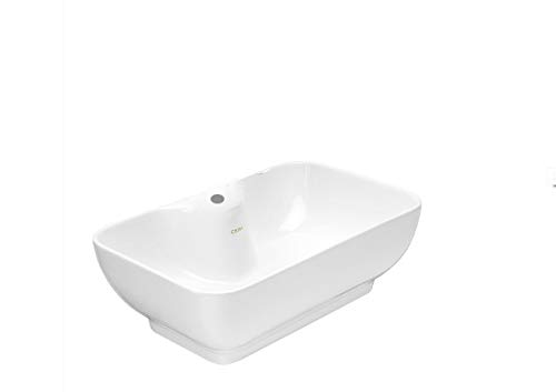 Cera Corba Ceramic Table Top Basin, 480x300 mm (White) Bathroom Basins at amazon