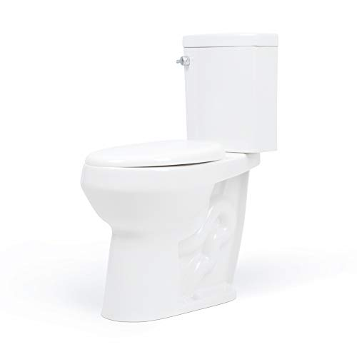 Ada Bowl - 20 inch Extra Tall Toilet. Bowl Taller than ADA or Comfort Height. Water-Saving Dual Flush. Slow-Close Seat. Upgraded Handle