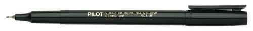 Pilot Extra Fine Point Permanent Markers, Black Ink, 1 Dozen Box (44102)