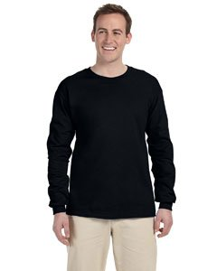 Fruit of the Loom Adult 5 oz. Long-Sleeve T-Shirt, Black, (5 Long Sleeve T-shirt)