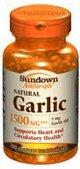 Sundown ail 1500 gélules naturelles 100 Gels mous