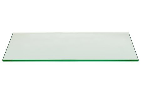 Rectangle Floating Glass Shelf 8 X 24|Flat Polished Edge|...