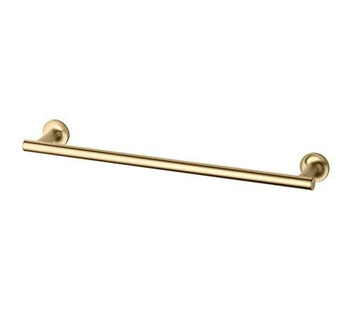 Premium Purist 18-Inch Single Towel Bar, Vibrant Moderne Brushed Gold ()