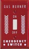Jackson Deerfield 8RG101 Pro-Plate Emergency Gas Burner Single-Toggle Wall Plate, Red