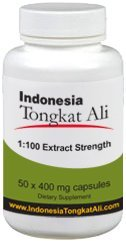 Indonesia Tongkat Ali Extract (100:1 extract strength) - 50 capsules - Natural Testosterone Booster