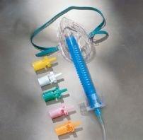Oxygen Venturi Mask - Adult Venturi Style Mask with 6 Diluter Jets