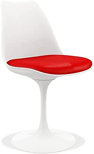 """Aron Living Rose 17.5\"""" Plastic and Metal Dining Chair in Red"""