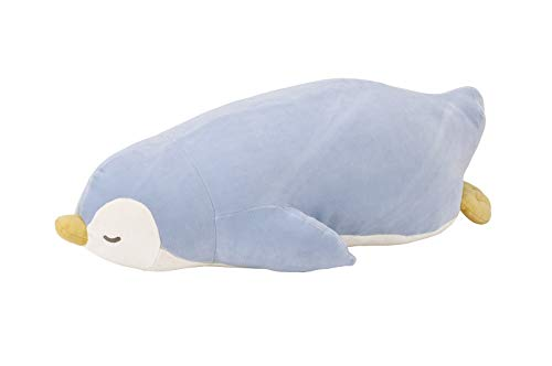Livheart Penguin Premium Nemu Nemu Sleepy Head Animals Body Pillow Plush Light Blue 'Love' Size M (18