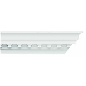 Focal Point 23600 Concord Dentil Crown Moulding 5 7/8-Inch by 8 Foot, Primed White, 6-Pack by Focal Point