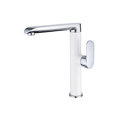 Contemporary Modern Style Centerset Ceramic Valve Chrome Finish Bathroom Kitchen Sink Faucet Single Handle by Zheng