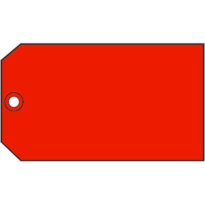5 X 3 Blank RED Tags