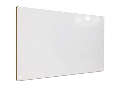 Whiteboard Ultra-Slim, Lightweight, Melamine, Accessories. 24 x 36 Inch - Wood 1/8 (3.175mm) 2' x 3' - Dry Erase Board. Easy Set up. Best Pac