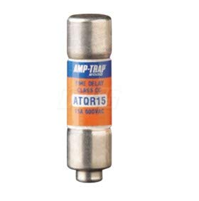 Motors & Armatures ATQR-15 15 Amp Time Delay Fuse with End Nipple