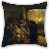 - artistdecor Oil Painting Gustave Dorà - The House of Caiaphas Cushion Covers 20 X 20 Inches / 50 by 50 cm Best Choice for Family,Indoor,Sofa,Valentine,Dining Room,Boys with Double Sides