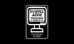 myspace-junkie-parking-only-sign-car-wall-decal-sticker-vinyl-white-matte-20-max-length
