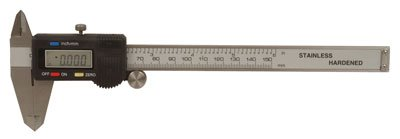 Jameco Benchpro GMC200 Metal Caliper, Metric, 6'' Size, 0.01 mm Precision