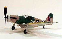 Free Balsa Airplane Plans - Dumas P-51B Mustang, 17.5