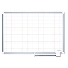 Grid Planning Board, 2x3 Grid, 72x48, White/silver By: MasterVision