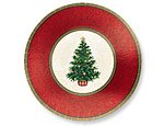 """Amscan Party Paper Childrens Plates, Green/Red, 12"""""""