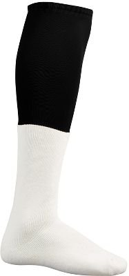 TCKフットボールチームソックス大人用25 in。靴サイズ9 – 12 B0034WIPFI ブラック/ホワイト