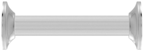 LDR 502 6300 60-Inch Polished Aluminum Straight Shower Rod with Flanges, Chrome ()