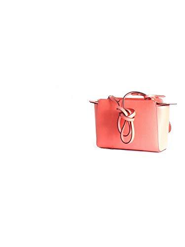 Femme Armani Emporio Grain Logo Handbag Corail Noir FUxqtZW