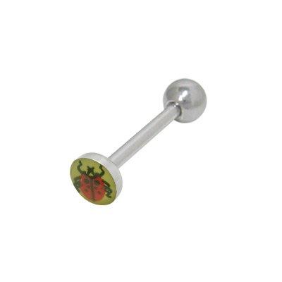BodyJewelryOnline Ladybug Steel Tongue Barbell ()