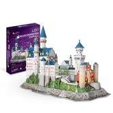 3D Kreative Dreidimensionale Puzzle Spielzeug Deutsch New Swan Castle Castle DIY Manuelle Montage Modell LED Beleuchtung, Dreidimensionale Puzzle