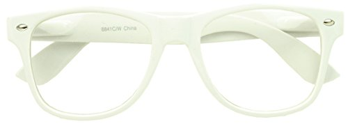Sunglass Stop - White Fashionable Vintage Retro Clear Lens Reading Glasses (White , Clear )